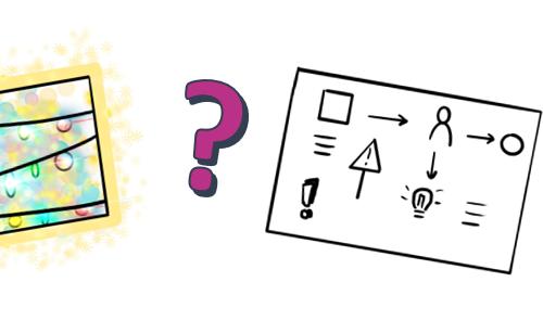 Dessin très coloré et dessin sans couleur : comment trouver l'équilibre ?